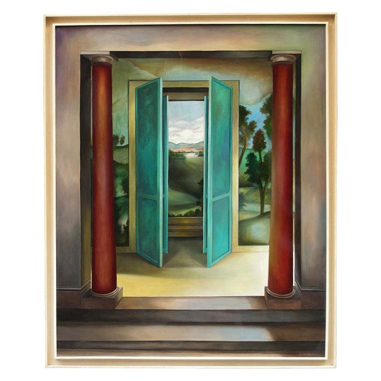Fen tre ouverte sur un paysage ast de manuel cancel 1985 for Decoration tableau fenetre