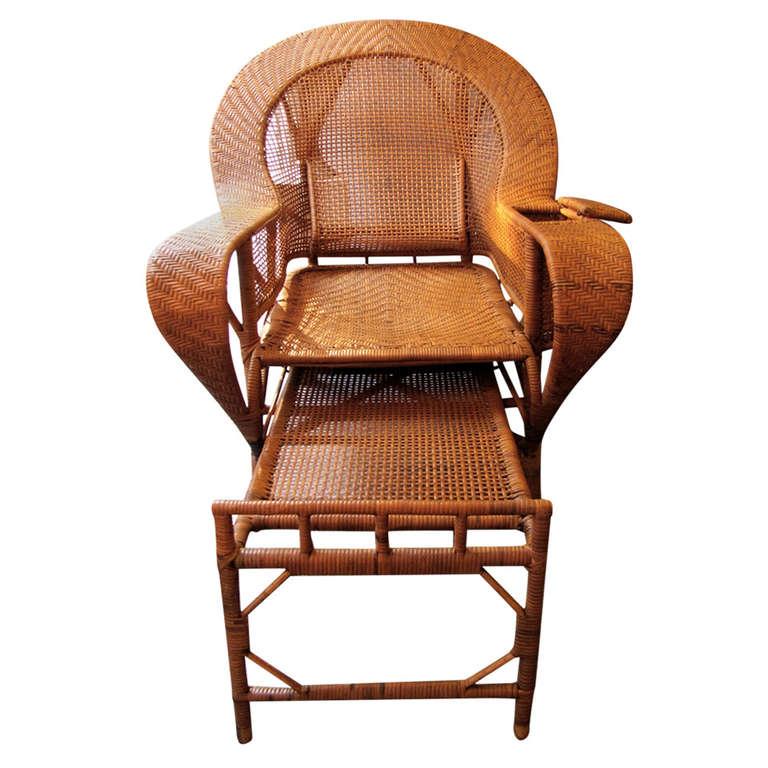 el gante chaise longue en rotin d 39 poque 1930. Black Bedroom Furniture Sets. Home Design Ideas