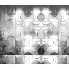 Ensemble de 84 panneaux modulables en inox, France 1970