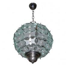 Petit lustre sphère par Quattro Zero, édition Fontana Arte