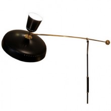 Pierre Guariche (1926-1995). Counterweight mobile wall lamp model
