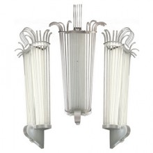 Five monumental lighting sconces. France around 1940