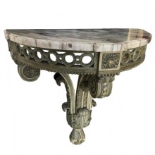 Half-moon wall console. Louis XVI style