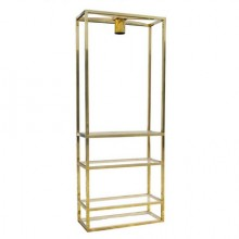 Lighting display cabinet in brass, France 1970