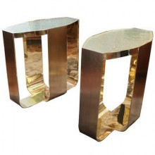 Inaurem. Pair of end tables. Limited edition