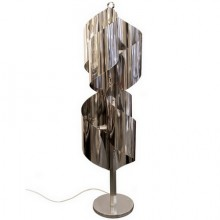 Floor lamp in shiny stainless steel, Italy circa 1970