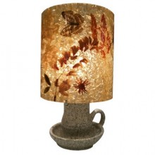 Stoneware and resin with inclusions lamp, Accolay circa 1960