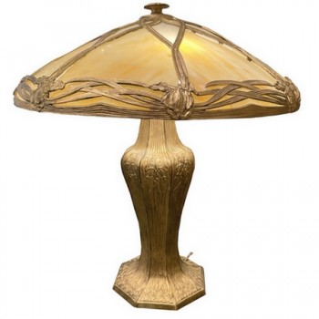 Lampe de Braddley and Hubbard Manufactory, USA vers 1900