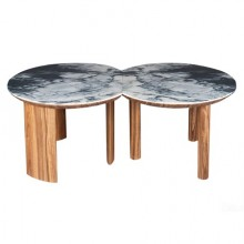 Pair of Echo coffee tables, 2018 limited edition