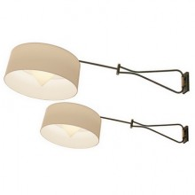 Pair of adjustable and foldable wall lights. Arlus France circa1950