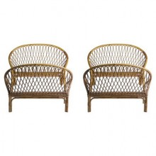 Pair of rattan beds, Louis Sognot around 1955