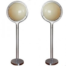 Pair of floor lamps . Garrault-Delord 1971