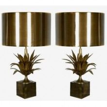 Pair of Agave lamps, Jacques Charles for Maison Charles, France circa 1970