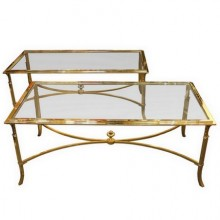 Pair of coffee tables, Maison Jansen France circa 1980
