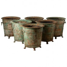 Set of six orange tree planters, France, late 19th century