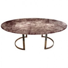 Cloud dining table in resin by Gilles Charbin