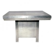 Table à allonge en aluminium Art Déco