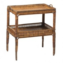 Serving table in woven rattan, France circa 1900