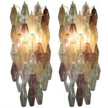 Paire d'appliques à polyèdres de Venini à Murano