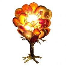Petit arbre-sculpture lumineux orange. Isabelle Masson-Faure. Vers 1980