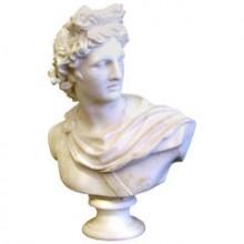 Grand buste d'Apollon en marbre de Carrare, d'après l'Antique