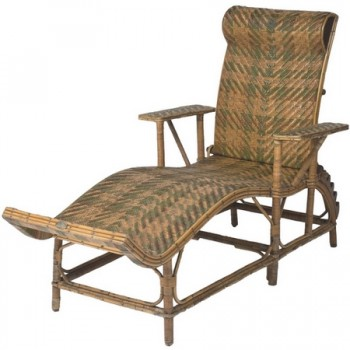 Rattan chaise longue by Perret-Vibert, France circa 1880