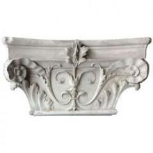 Chapiteau composite plat en plâtre, France fin du XIXème siècle