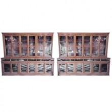 Paire de meubles-vitrines de pharmacie d'époque 1880-1900