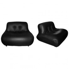 Paire de fauteuils bas de Bellini, 1970-1980