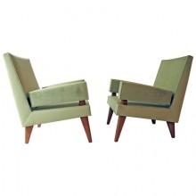 Maxime Old. Paire de fauteuils de conversation modèle 369. France 1955/1958