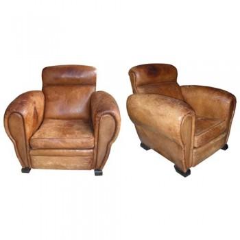 Deux fauteuils Club époque 1940