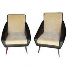 Paire de fauteuils Italiens époque 1950