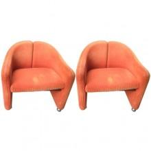 Deux paires de fauteuils série 142, Eugenio Gerli pour Tecno 1966
