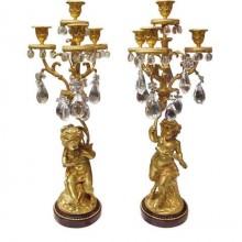 Paire de candélabres en girandoles d'époque fin XIXème siècle