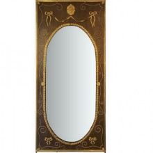 Rare and important woodwork mirror in Louis LXVI style, circa 1880