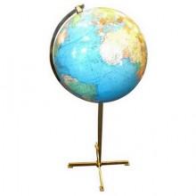 Grand globe terrestre lumineux sur pied, Colombus Allemagne vers 1970