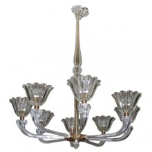 Large 1930-1940 Murano glass chandelier by Barovier