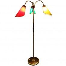 Lampadaire à trois bras de lumières orientables. France 1950