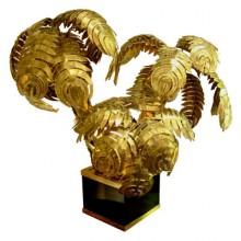 Lampe palmier trois têtes, vers 1970