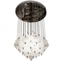Large 1970s ceiling light by Mazzega in Murano