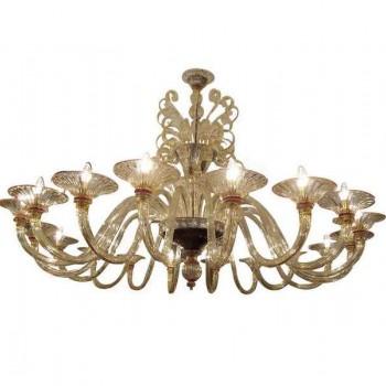 Très important lustre en verre soufflé de Murano époque 1970