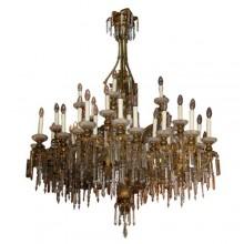 Large Napoleon III crystal chandelier
