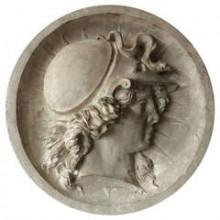 Grand médaillon en plâtre représentant Minerve, France fin XIXème siècle
