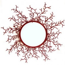Mirror imitation of coral in lacquered iron. Musgo in Barcelona around 1980