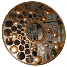 Large end of 20th century round mirror