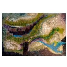 Panneau en mosaïque de verre (smalti d'Orsoni à Venise). 1972