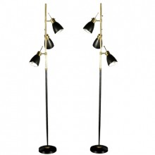 Pair of Monix floor lamps. France circa 1960