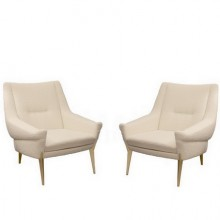 Pair of armchairs by Charles Ramos, Castellanetta Edition, 1950