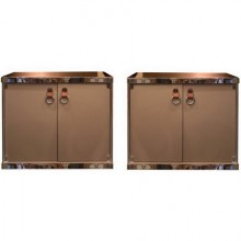 Pair of side cabinets by Guido Faleschini for Hermès. Italy circa 1970