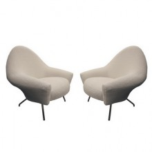 Pair of armchairs, 770 model. Joseph-André Motte for Steiner. Circa 1958